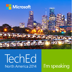Come see me at TechEd North America 2014 in Houston, Texas!