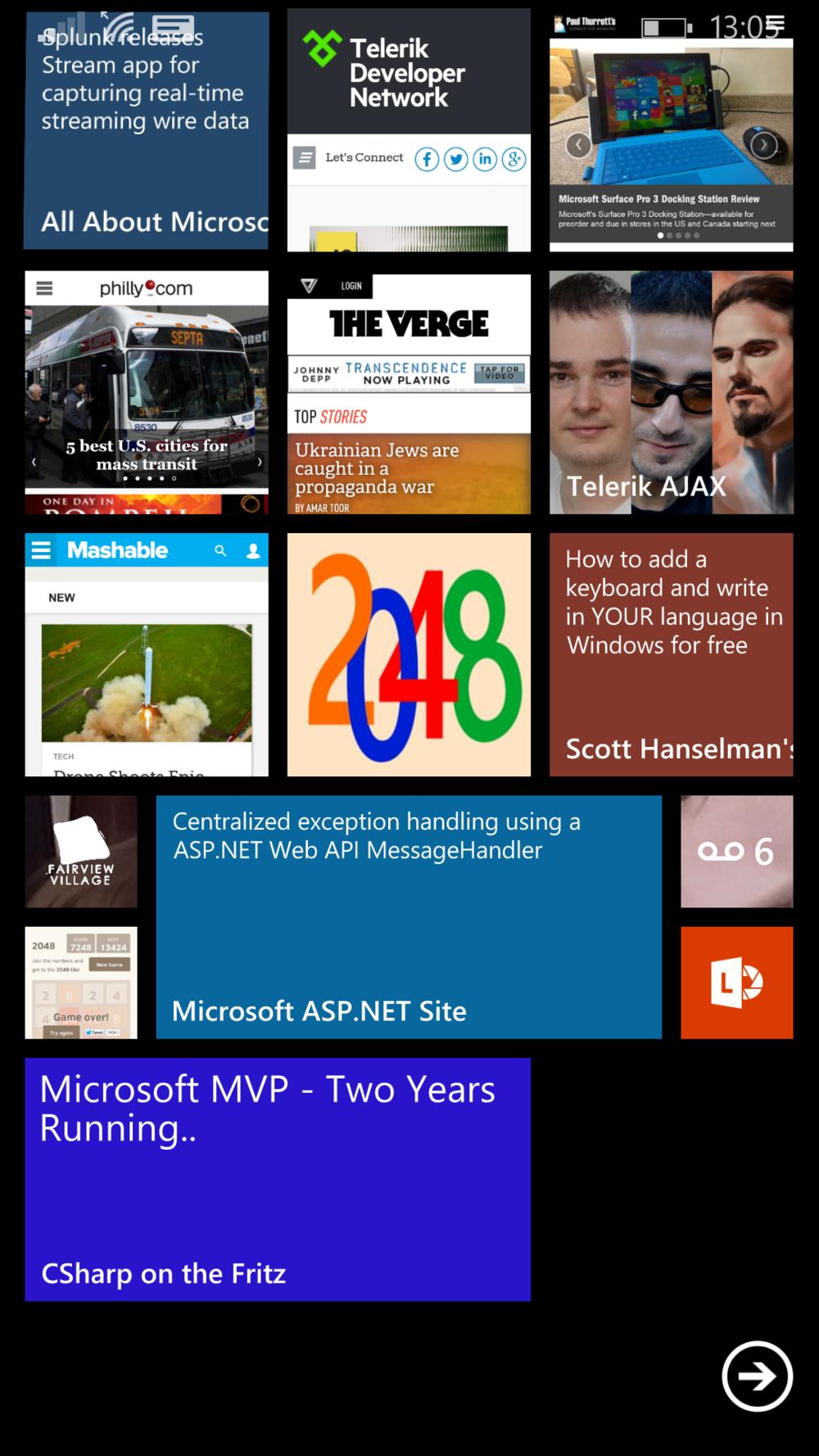 My Windows Phone Start Screen