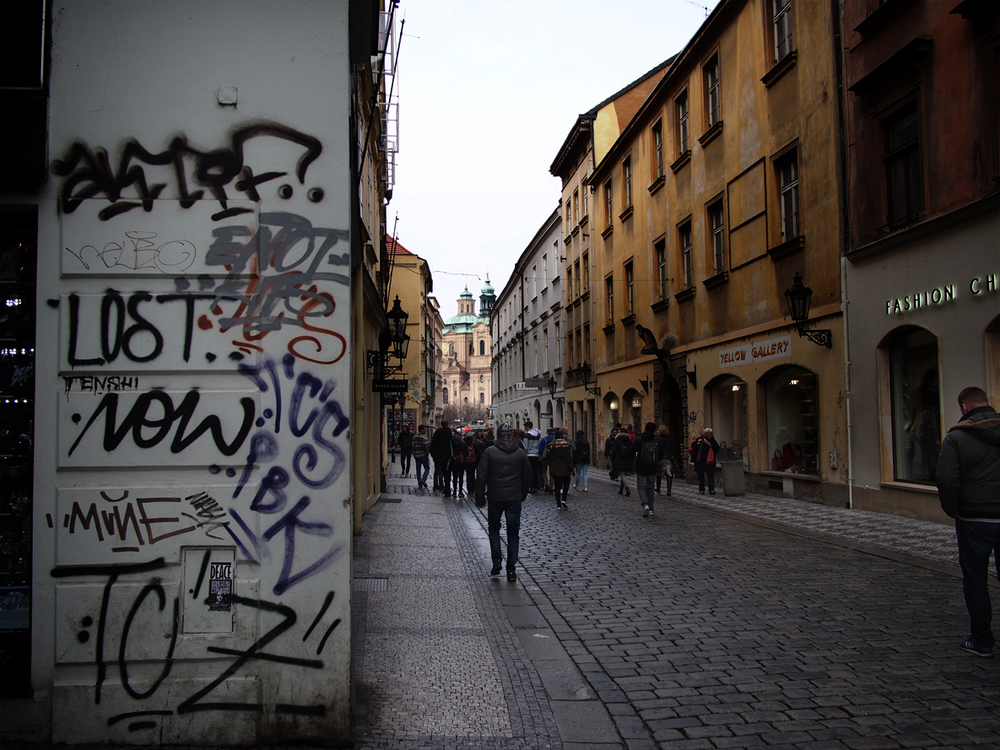 Prague graffiti.