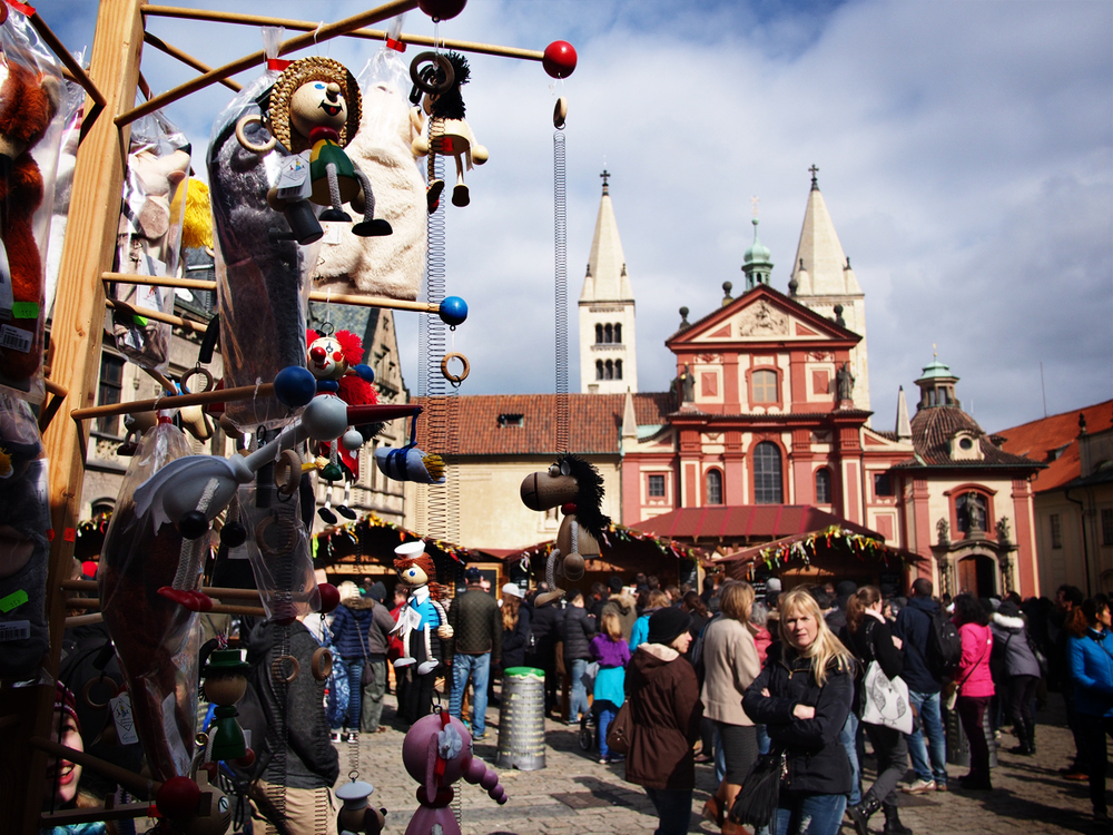 After climbing our way up to the castle we were rewarded with a festive Easter market.