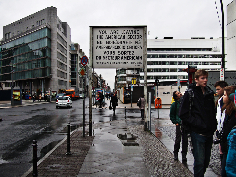 Checkpoint Charlie - an entryway from West to East Berlin.