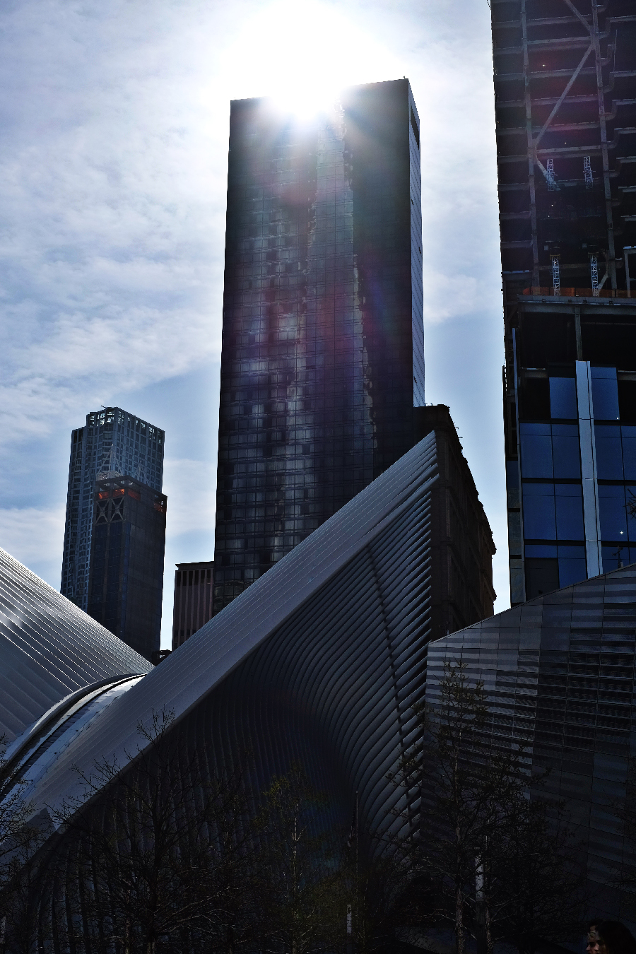 A brief visit to the 9/11 memorial in the financial district revealed aquatic-inspired architecture and a dark time in our nation's recent past.