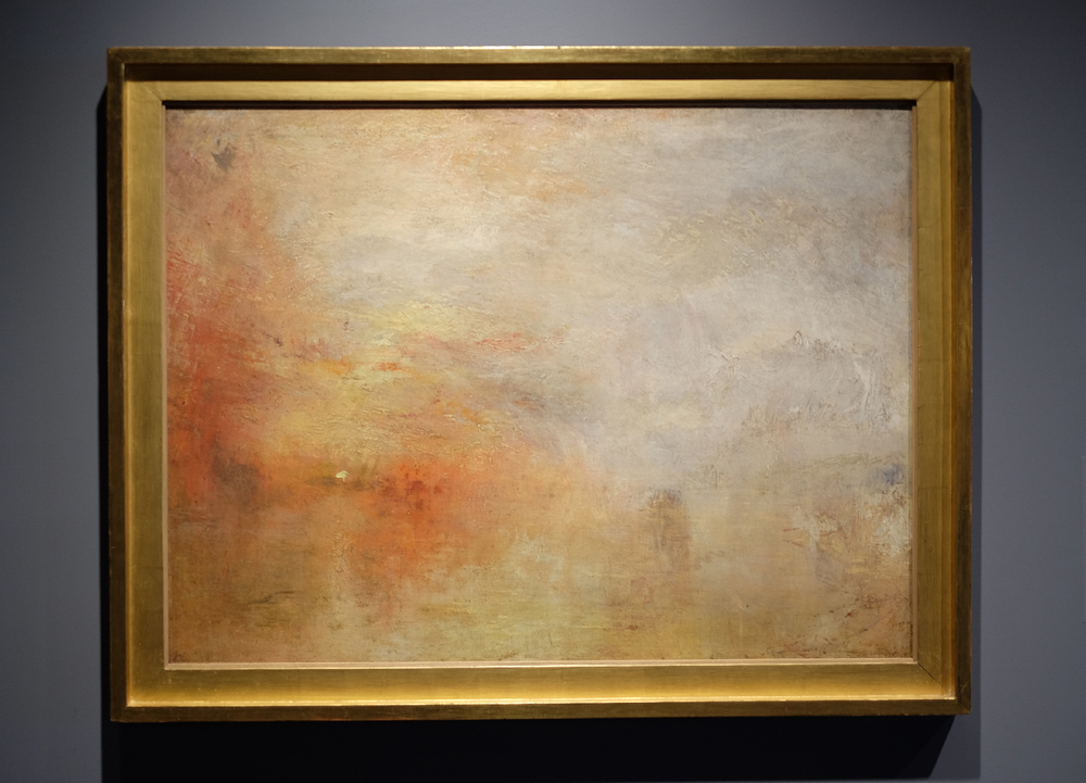 "This unfinished painting by JMW Turner has the feel of an abstract expressionist work from the mid-1950's despite it being created in early 1800's. This guy is the real ""painter of light."""