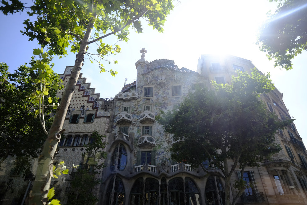 It seems as though Gaudi was waiting around every corner, like his Casa Batllo.