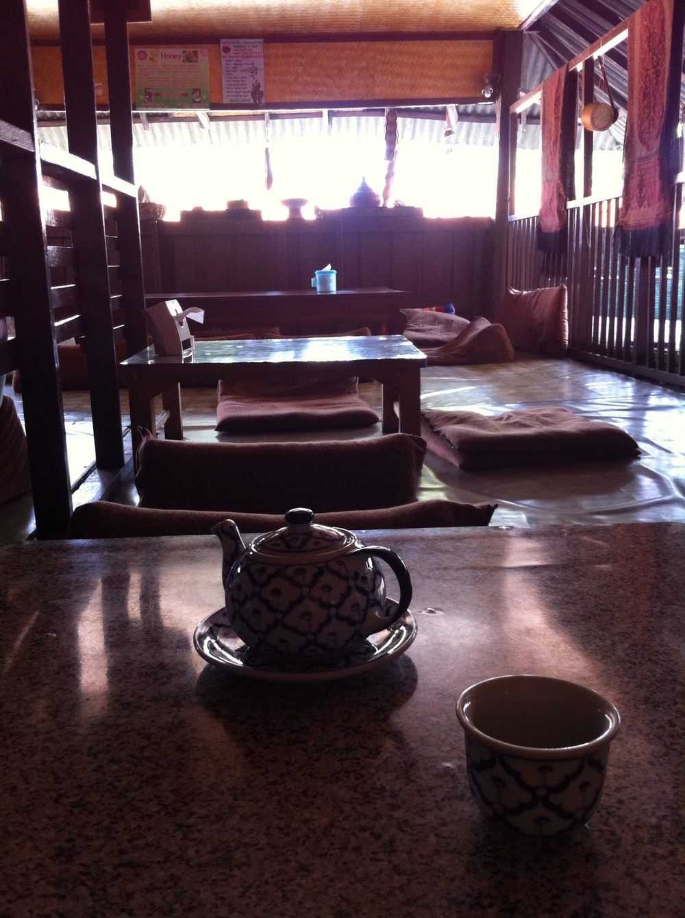 A quiet cup of crysanthemum tea at Aum