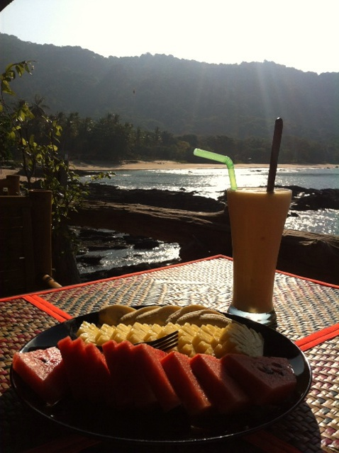Breakfast in paradise