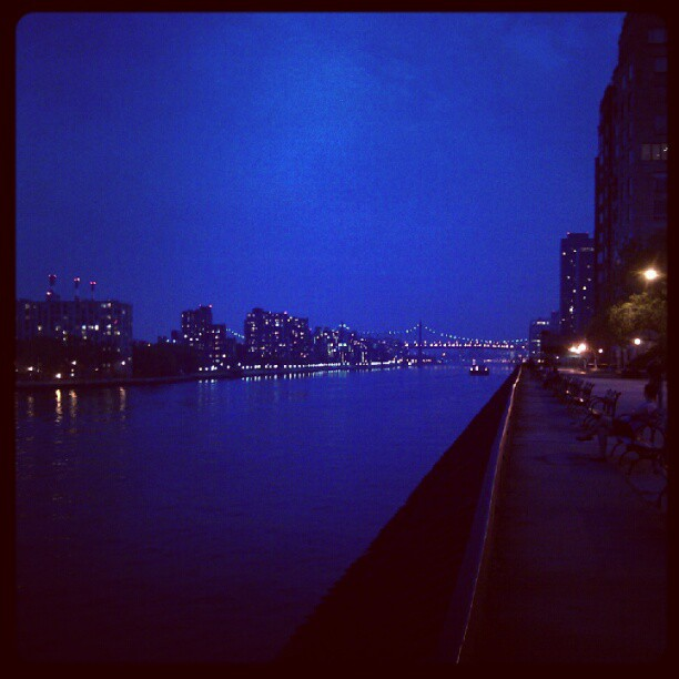 An evening on the East River… (Taken with  instagram )