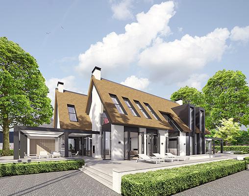 modern landelijk villa woning huis architect zelfbouw kavel strak erker stuc riet rieten dak hoogkarspel streekweg noord holland traditioneel architectuur luxe_2.jpg