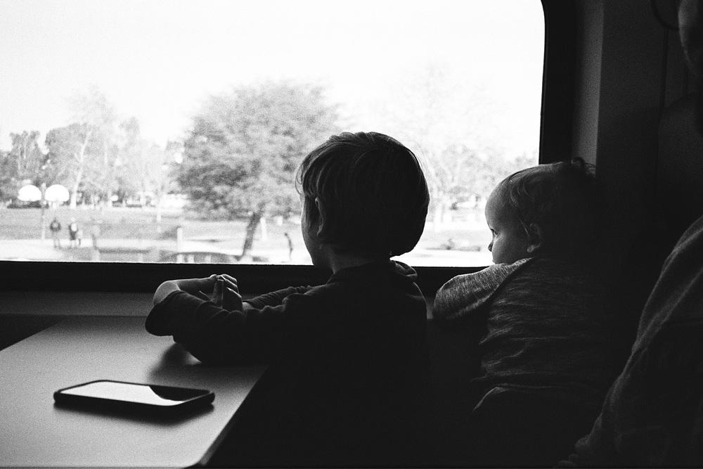 ^^ Riding the Amtrak down to Encinitas.