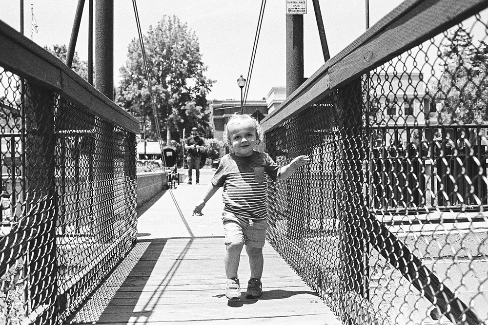 ^^ The Arroyo Grande suspension bridge. A childhood memory of my own. And it was so much fun to see my kiddos now playing on it.
