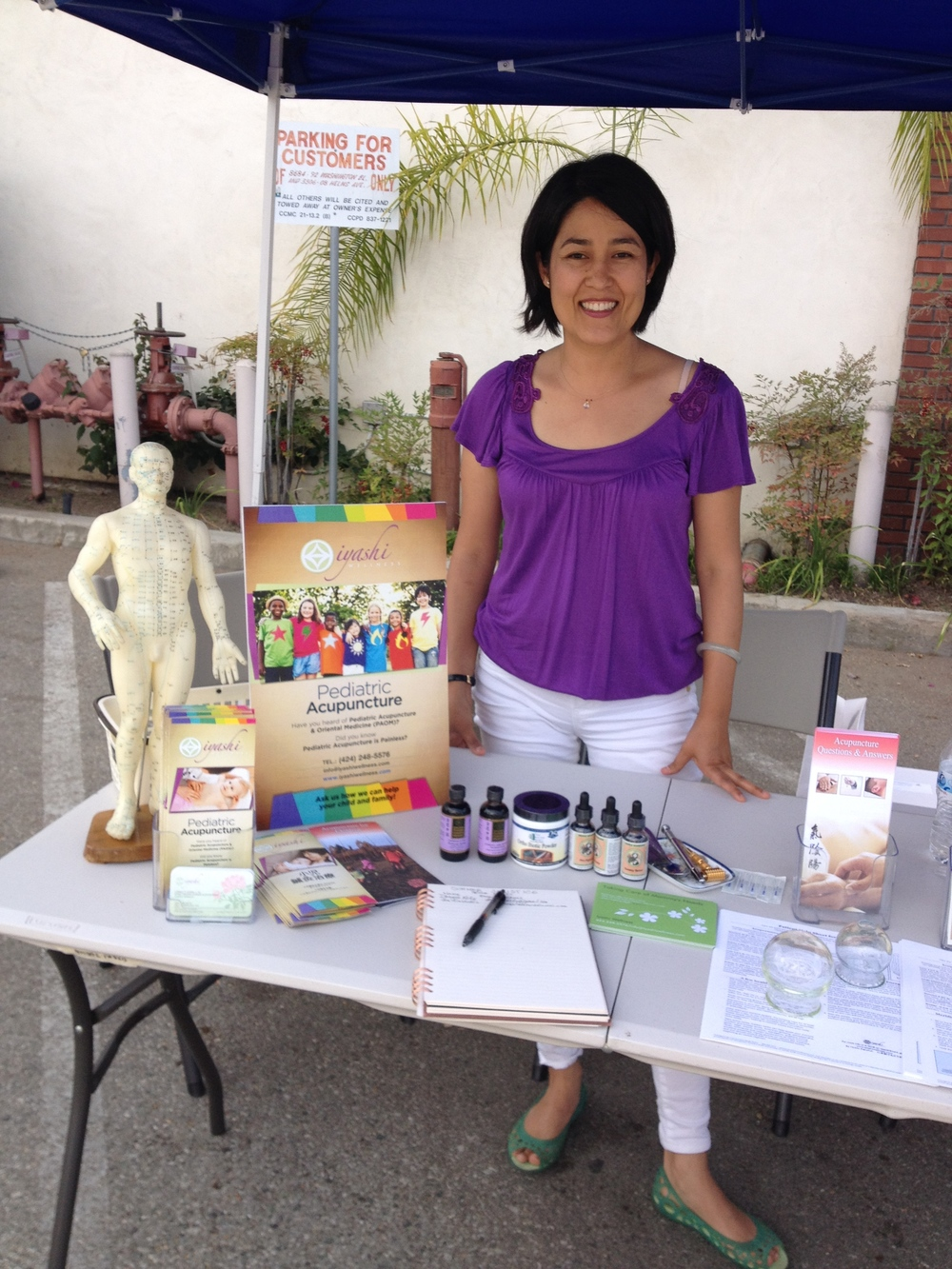Yours truly at my Iyashi Wellness booth at My Little Sunshine, Culver City