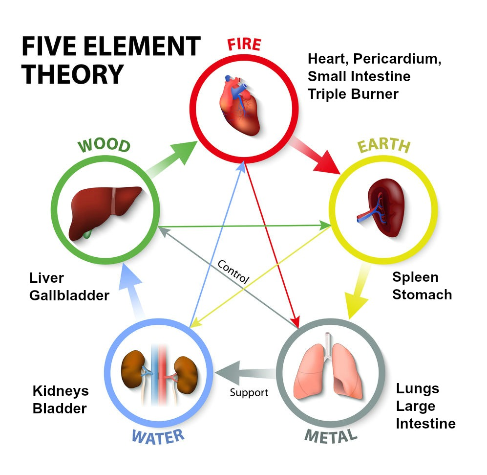 "Image from:    designua / 123RF Stock Photo       This image shows the Five Element cycle and its ability to ""generate"" each element.  Wood feeds Fire which burns to ashes, creating Earth.  As Earth compacts, it turns into Metals, and in time, the runoff from the distillation of Metals turns into Water."