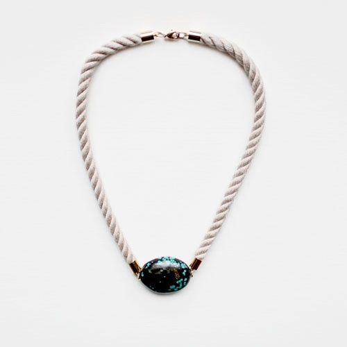 Chalk Turquoise and Rope Necklace , £49/$77