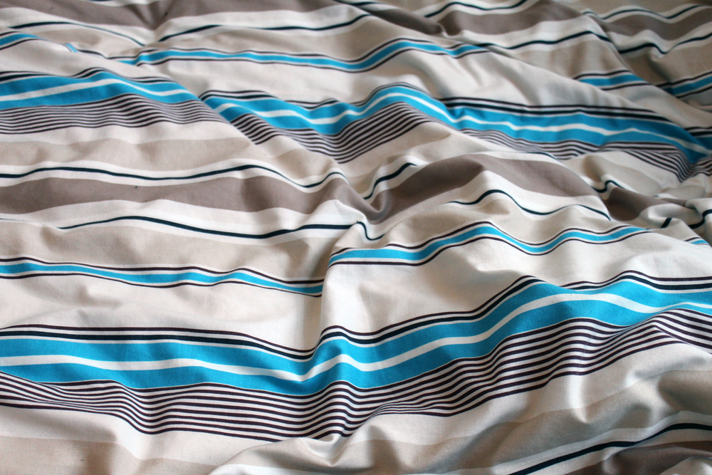 Pastel striped bedspread
