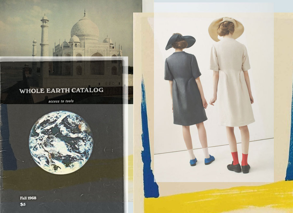 Amazing image of the Taj Mahal in 1923 from  National Geographic 's new Tumblr, the  Whole Earth Catalogue , the work of  Helen Frankenthaler , and finally -  Peter Jensen  S/S 13.