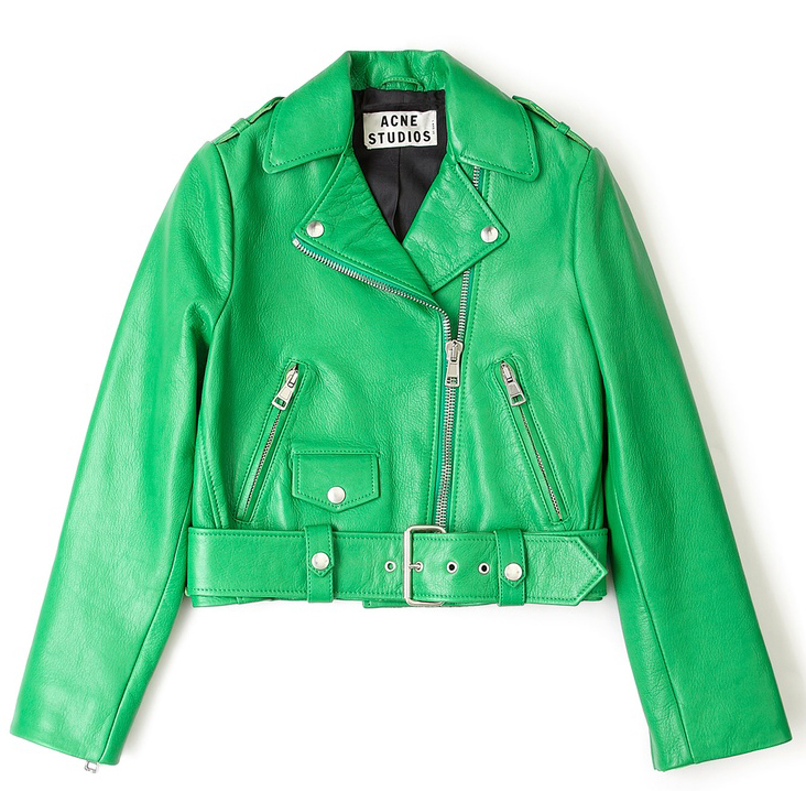 Acne Cropped Leather Biker Jacket - Second Floor Flat