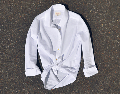 Tomboy White Button-Up Shirt / Second Floor Flat