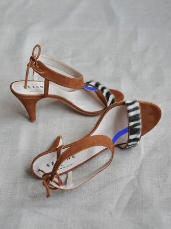 Sezane Zebra Rio Sandals / Second Floor Flat