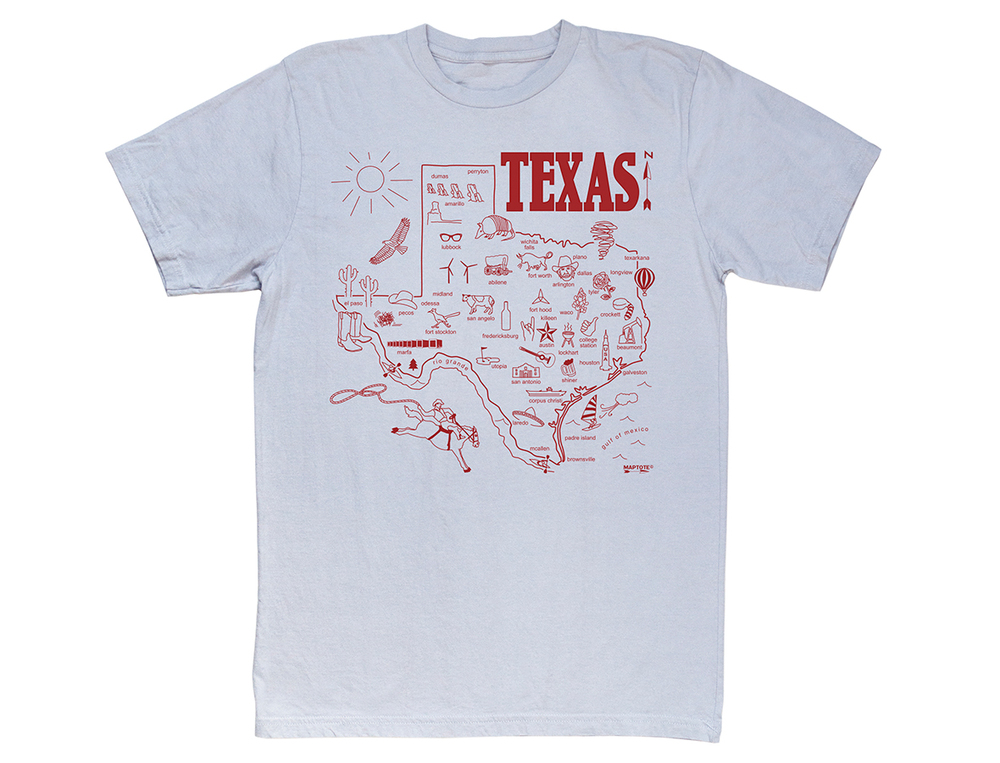 Maptote T-Shirt / Texas // Second Floor Flat