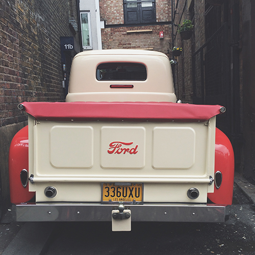 vintage Ford truck | secondfloorflat.com