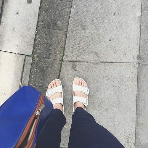 The Best Summer Shoes: Arizona White Birkenstocks | Second Floor Flat