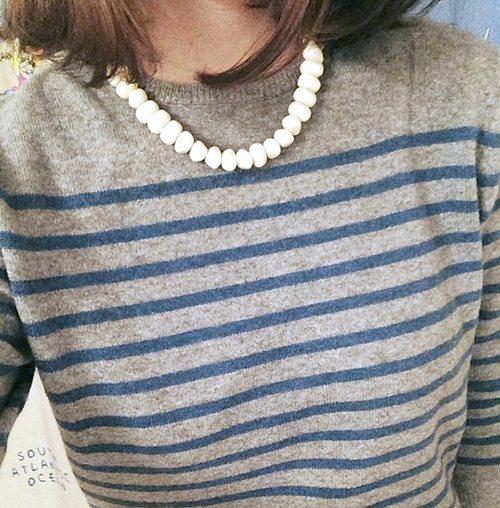 KULE Preston Cashmere Sweater | Thrifted Necklace