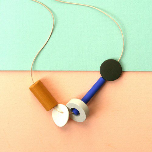 Geometric Shapes Necklace by Not Tuesday, $65