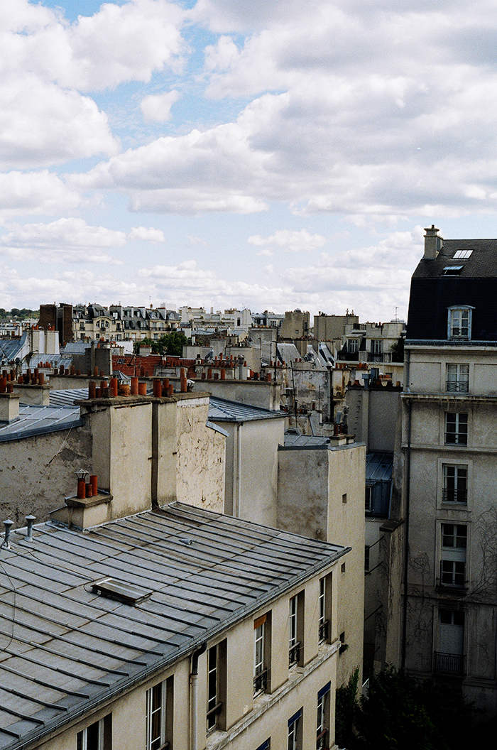 View from our flat in Le Marais