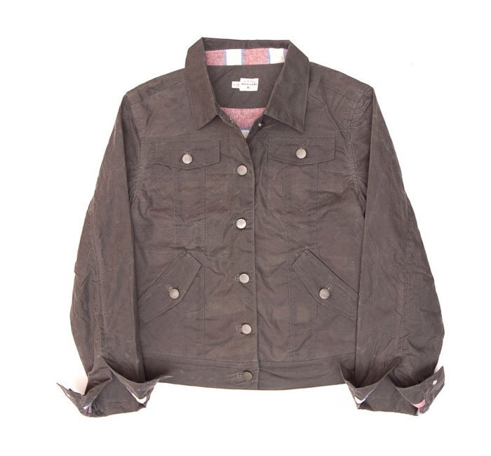 alvord grey waxed jacket by bridge & burn