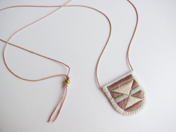 Embroidered Necklace by Kari Breitigam