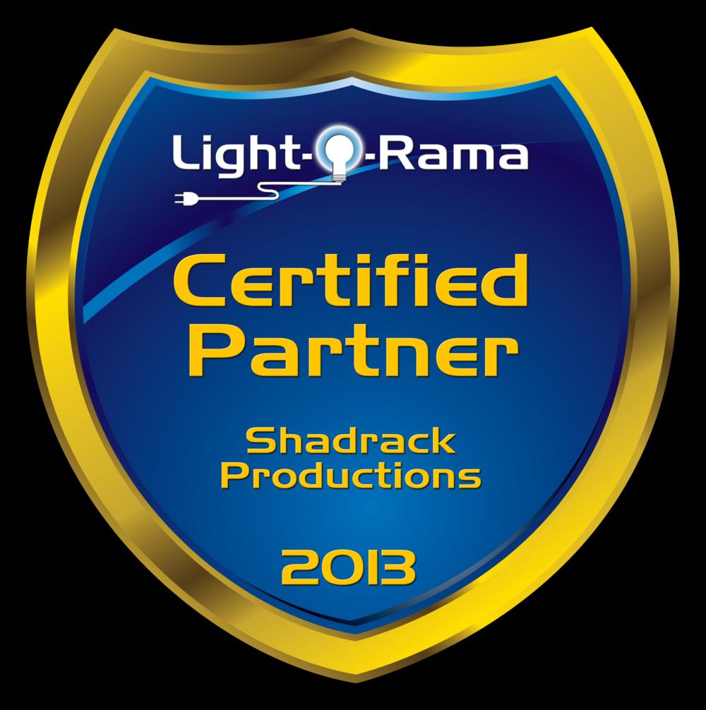 ShadrackProductions2013-LightORamaPartnerShield.png