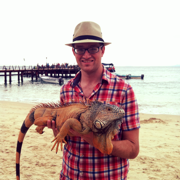 Hanging out with an Iguana in Las Animas, Mexico