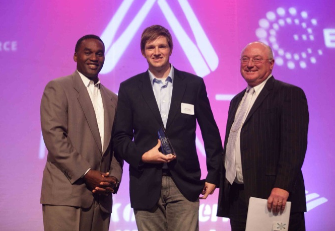 Accepting my award for 2011's Nashville Youth Entrepreneur of the Year