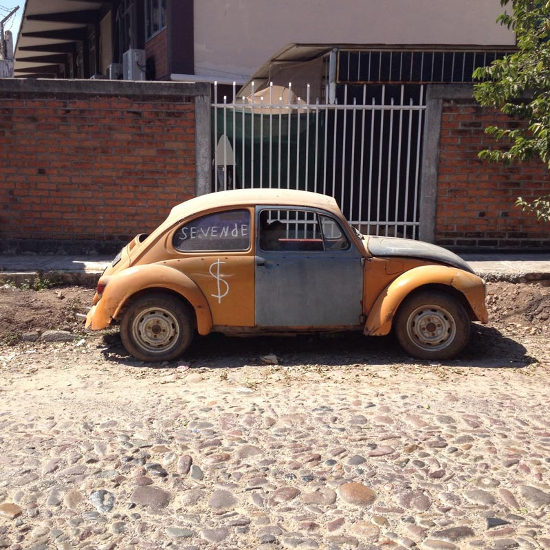 One of the many VW bugs in Puerto Vallarta, Mexico