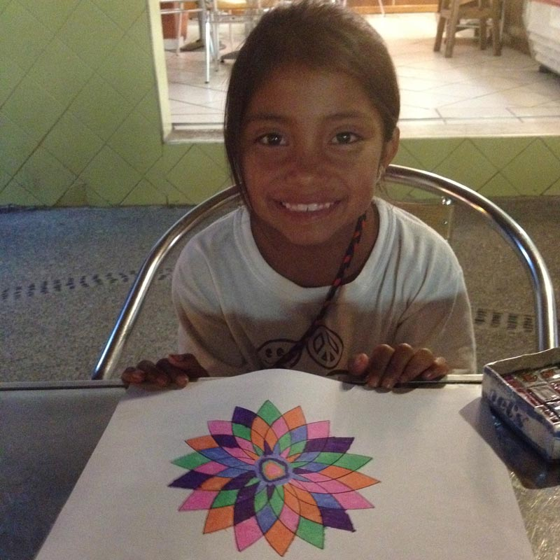 My art buddy Lilianna