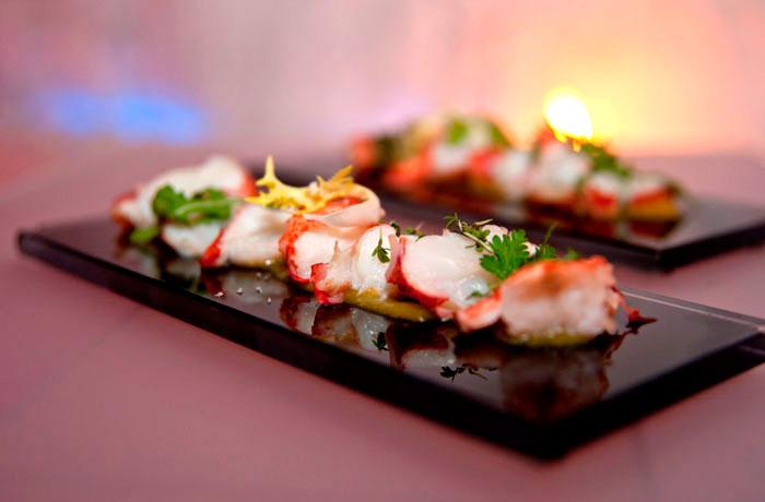 Frischer Fisch im Restaurant fino in Meran