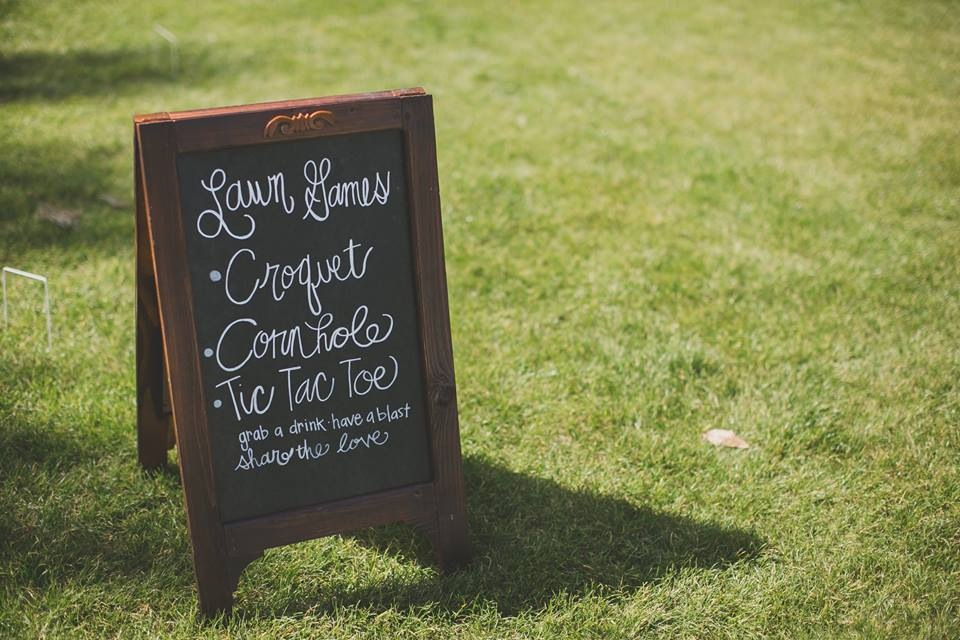 This was for  Jenn & Joe's  Nocatee wedding. We created a very fun cocktail hour on the lawn. I can't wait to show more from this wedding! Photo by  Liliop Photography .