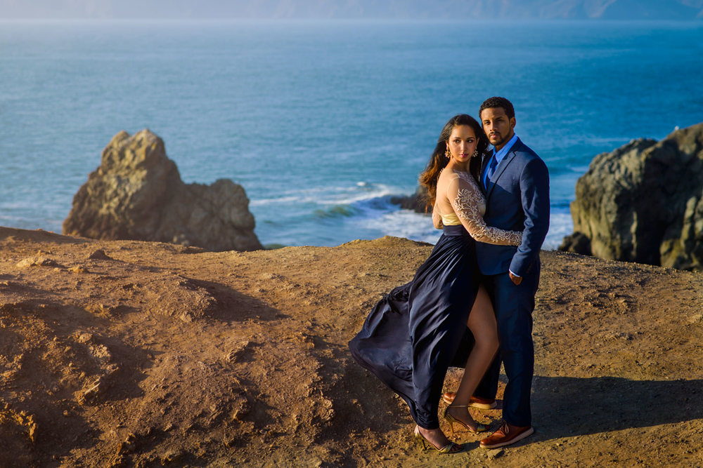 Sutro Baths Engagement session near Lands End.
