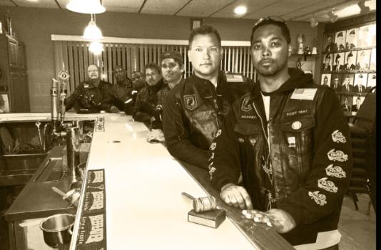 "(Foreground to background) Anthony (Prez), George (Vice Prez), Jerome, Dane ""Poet"", Troy, Shannon, Ed ""Duke"""