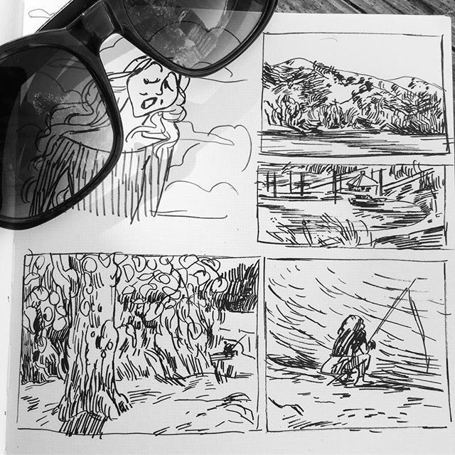 #inktober by the lake #inktober2018