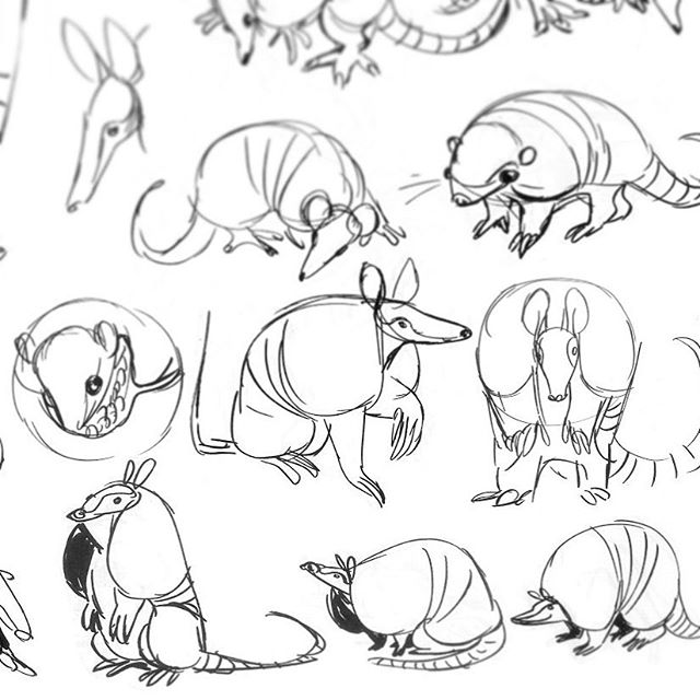 All the armadillos #characterdesign #sketchbook #personalart