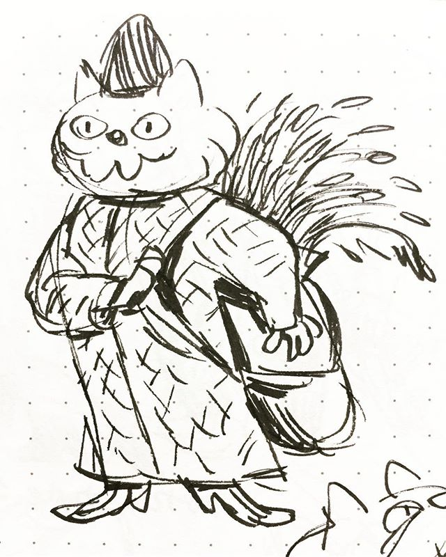 A bunch of cats dressed in period costumes. Always dress your cats. 🐱🧥👠 #characterdesign #sketch #sketches #sketchbook #portraitofacat