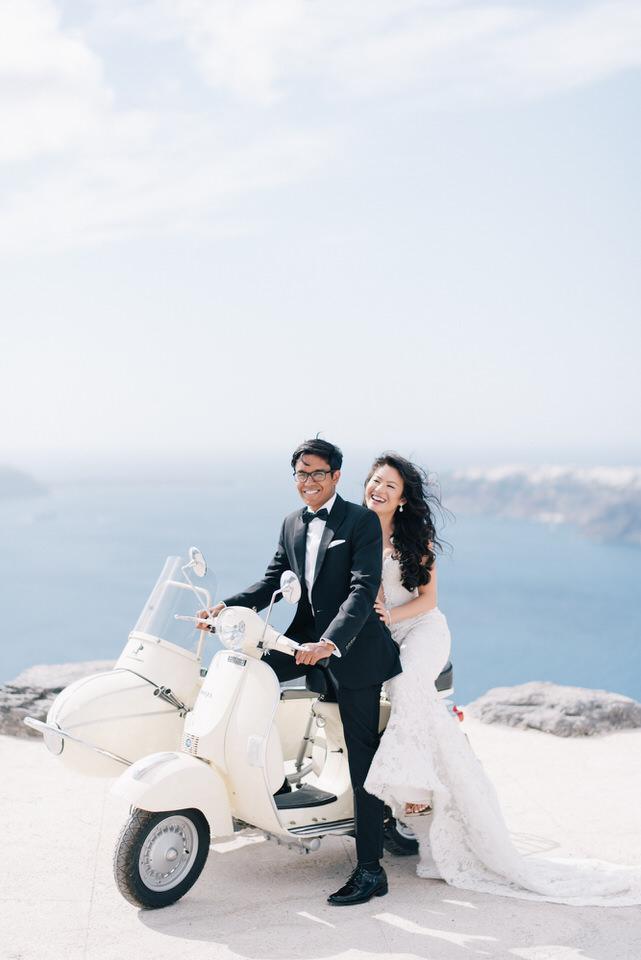 Santorini, Greece - Nikki & Vinod