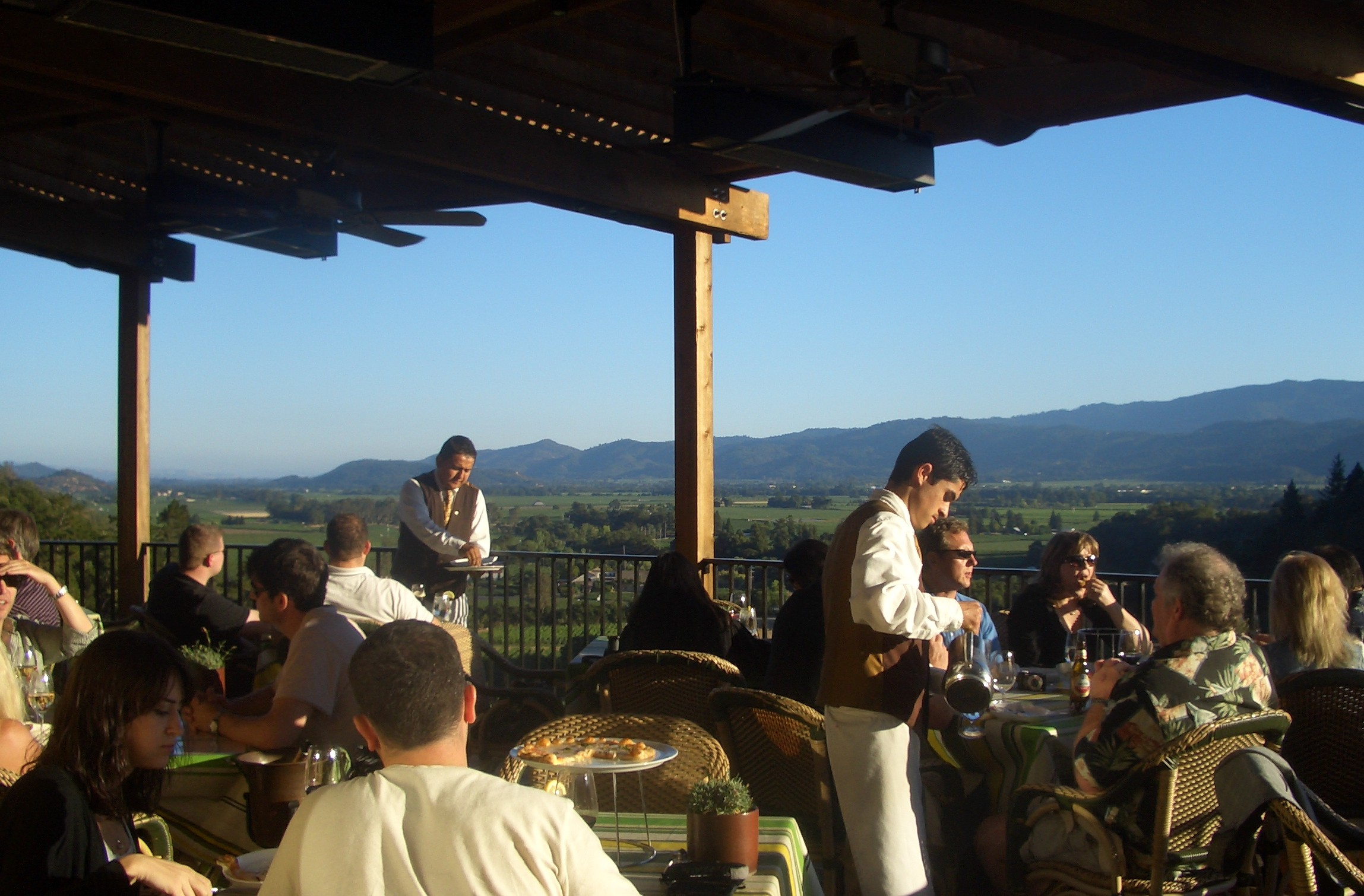 View from Auberge Bistro