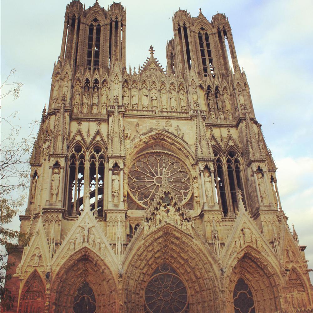 Lacathédrale Notre-Dame de Reims, Champagne.