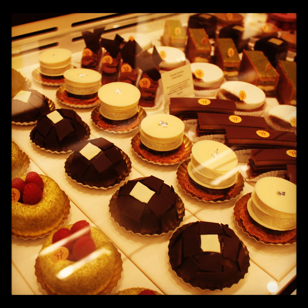 More at Pierre Hermé on rue Bonaparte... conveniently located right across from our flat!  (Dangerous indeed!)