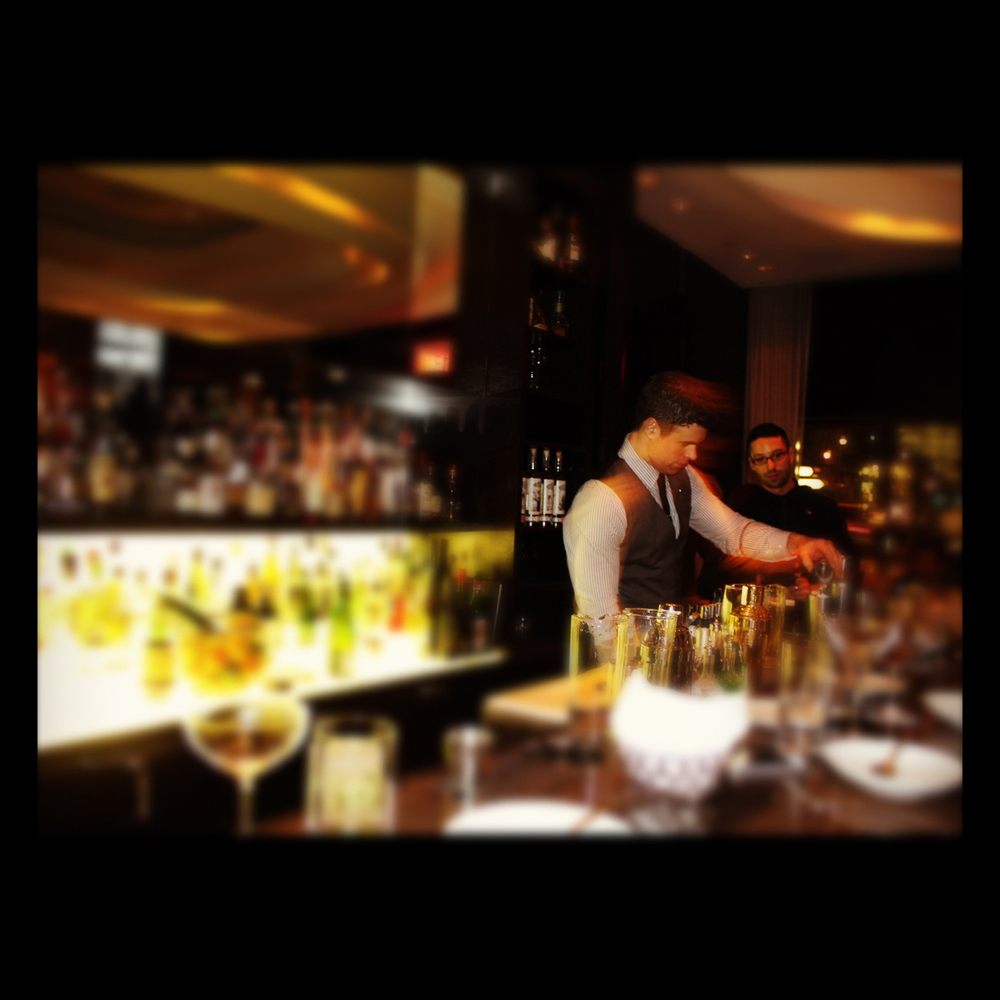 Bar scene at Hawksworth, Hotel Rosewood Georgia.