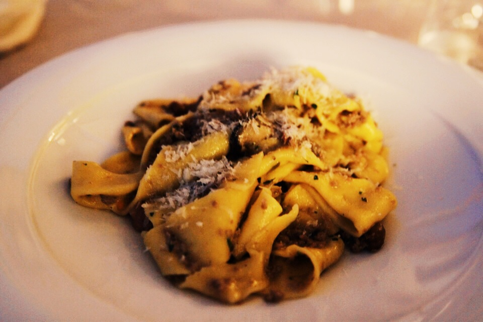 We still talk about this dish, it was that good.  Pappardelle with wild boar ragu at Poggio Piglia.