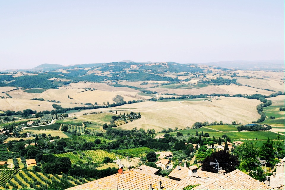 Valley view from  Montepulciano.