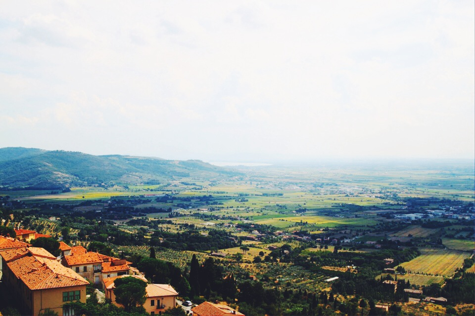 Valley view from  Cortona.